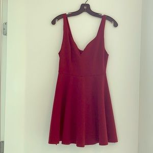 Wine mini dress from urban outfitters